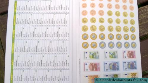 Litchi-manipulation-04Calendrier et monnaie euro.