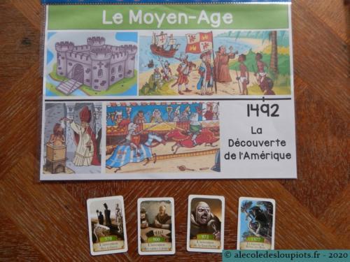 Le moyen-âge et le jeu Timeline