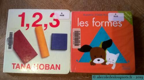 Livres 1, 2, 3 de Tana Hoban et les formes d'Odette Ross