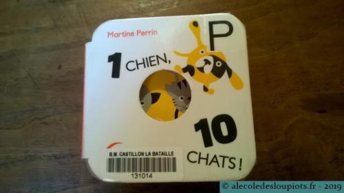 Livre 1 chien, 10 chats de Martine Perrin